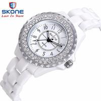 relógio de tubarão de luxo venda por atacado-Relógio de cerâmica Moda Casual Mulheres relógios de quartzo relojes mujer SKONE marca relógios de pulso de luxo Menina elegante Vestido relógio 7242GBY1883101