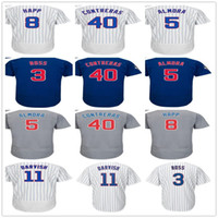 Wholesale Ross Gold - Chicago 11 Yu Darvish 3 David Ross 40 Willson Contreras Albert Almora Ian Happ Any Name Number Customized Baseball Jerseys Mens Youth Womens