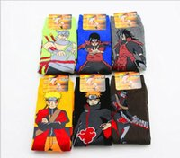Wholesale naruto cosplay anime online - 6 pair set Cute Japan Anime Naruto Socks Uzumaki Naruto Print Cotton cosplay Socks Accessories