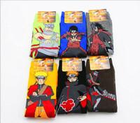 cosplay naruto achat en gros de-6 paires / ensemble Mignon Japon Anime Naruto Chaussettes Uzumaki Naruto Print Coton cosplay Chaussettes Accessoires