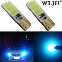 Wholesale Replacement Auto Bulbs - WLJH T10 194 W5W LED Light Bulbs Canbus Error Free COB Chip Auto Replacement LED Panel Dome Reading Side Marker Instrument