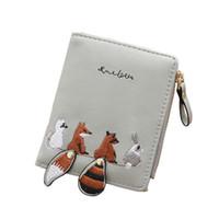 1ac475439 carteiras de raposa venda por atacado-Carteira Minimalista Das Mulheres Dos  Desenhos Animados Fox Coin