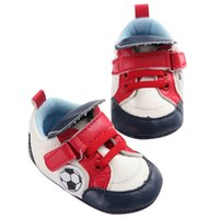 Wholesale baby tennis shoes online - Baby Boy Shoes PU Print Anti slip Soft Sole Toddler Sneaker First Walkers Newborn Infant Toddler Crib Tennis Shoes