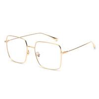 7fc3695c16 Women optical glasses frame men square gold metal high quality big square  eyeglasses frame women unisex