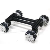 robô motor rc venda por atacado-Grande inteligente roda de carro mecanum robô rc omni kit car chassis de metal quadro com 42 motor de passo para arduino diy rc kit de brinquedo