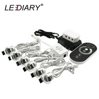 Wholesale Downlight Set - LEDIARY 1-6Pcs Set Mini LED Downlight Dimmable 1.5W 85-265V Remote Controller Silvery Cabinet Spot Lamp 27mm Cut Hole Recessed