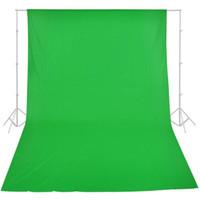 ingrosso sfondo bianco musulmano-1.7x2.8 m verde cotone chromakey fondale sfondo per studio di illuminazione foto verde nero bianco opsional