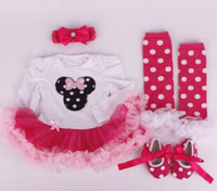 Wholesale silicone for clothing online - Clothes Wear Fit For cm Silicone Reborn Baby Doll Toys Dress Shoes Headband Sock set Clothing Suit Doll s Accessories