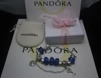 opal gümüş bilezik toptan satış-Charm Bilezikler 925 Gümüş Pandora Bilezikler kutusu ile birlikte, kese 2018 AAA18 ücretsiz kargo