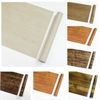 Wholesale Furniture Bedrooms - Wholesale 45cm*10m Textured Wood Grain Vinyl Stickers PVC Waterproof Boeing Film Self Adhesive Wallpapers DIY Furniture Stickers #1