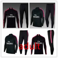 kits expresos al por mayor-venta caliente 2018 2019 NEYMAR JR DI MARIA CAVANI VERRATT formación Jerseys kit jacket chándal Express mail free..S-XL