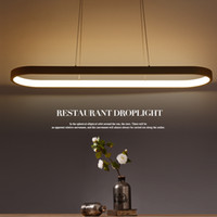 lamparas führte colgantes großhandel-Neue kreative moderne led pendelleuchten küche acryl + metall suspension hängen deckenleuchte für esszimmer lamparas colgantes