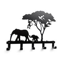 giraffe fabrics Canada - Creative iron hook Elephant giraffe Wall hook Robe coats Bathroom hooks Home accessories kitchen hanger