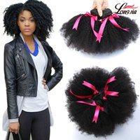 """Wholesale Human Hair Free Shipping - 8A Unprocessed Brazilian Human Hair Weave Afro Kinky Curly Human Hair 3Pcs Lot 8""""-20"""" Natural Color Human Hair Extensions Free Shipping"""