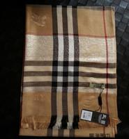 a87857357365 Top foulard en laine de luxe écharpe de marque de luxe écharpe de marque  teinte en fil de laine de coton teintée argent clair