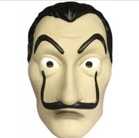 Wholesale black women costumes online - La Casa De Papel Mask for Men Women Salvador Dali Mask Halloween Carnival Christmas dali Mask