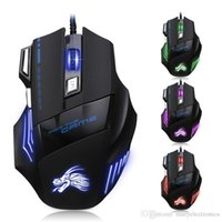 Wholesale mouse gamer - gaming mouse wired USB computer mouse game mouse gamer 5500 DPI adjustable 7D LED optical for laptop PC