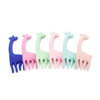 giraffe teether großhandel-Silikon Kinderkrankheiten Spielzeug Giraffe Beißring Lebensmittelqualität Silikon Anhänger Baby Safe Kinderkrankheiten Hirsch Kautabletten Bead DIY Chewelry Pflege Beißringe