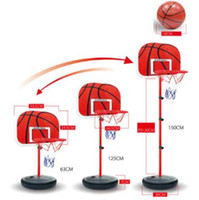 Wholesale Children Basketball Stand CM Kids Outdoor Adjustable Basketball Toy Playset Kids Indoor Outdoor Basketball Toy Party Favor CCA9731