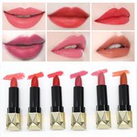 labios de labios desnudos al por mayor-Nuevas llegadas Impermeable Lip Stick Cosméticos de larga duración Kissrpoof Hidratante Lipstick Pumpkin Color Naked pink 6 Color