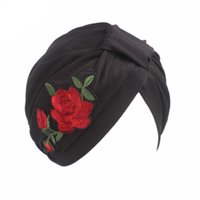 Wholesale formal accessories for girls for sale - Muslim Women Print Flower Cross Chemo Hats Knot Bonnet Turban Cap Beanie Skullies Headwrap Pleated for Hair Cover Hair Accessories