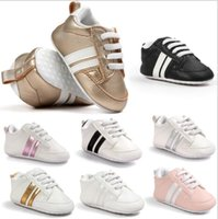 Wholesale mix kids shoes for sale - Mix Colors Baby kids Soft PU Leather sneakers Boys Girls Non slip first walker toddler infant Newborn shoes sneaker footwear