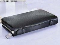 reisepass für reisen großhandel-Hiqh Qualität Zippy XL Wallet Reißverschluss um Reisetasche Black Geldbörse Herren Real Epi Leder M61506 Brown Passport Tasche Designer-Handy-Box