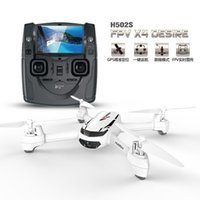 Wholesale hubsan quadcopter fpv - Hubsan X4 H502S RC Drone 5.8G FPV GPS Altitude RC Quadcopter with 720P HD Camera One Key Return Headless Mode Auto Positioning