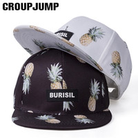 sombrero de enfriamiento para niños al por mayor-¡Genial! 2017 Trend Fruit Print Cap Adult / Kids Snapback Caps Hip Hop Hat para niños Summer Caps para niñas Sombrero de béisbol Niños