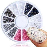 bolzen 2mm großhandel-1 Rolle 2mm Nail art Dekoration Zirkon Micro Kristall Diamant Strass Glitter Mini Perlen Charme Strass Maniküre Edelstein Ohrstecker JIZ01