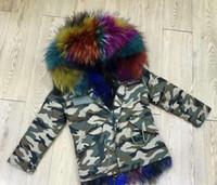 ingrosso giacche di pelliccia del neonato-Meifng - (Baby style) XS-4XL Giacca per camicie in pelliccia di volpe bianca e americana