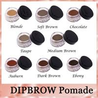 Wholesale Wholesale Hot Chocolate Mix - Anastasia DipBrow HOT Pomade Waterproof Makeup Eyebrow 4g Blonde Chocolate Dark Brown Ebony Auburn Hightlighter DHL