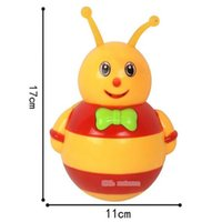Wholesale music games pc - 2018 1 Pc Lovely Electric Music Light Plastic Cartoon Animal Tumbler Early Educational Baby Infant Puzzle Toys Funny Games