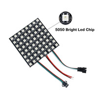 chip led direccionable al por mayor-Edison2011 DC5V WS2812 píxeles Panel Chip 8x8cm Panel de pantalla a todo color Módulo LED direccionable