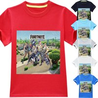 Wholesale teens summer clothes - Cool Boys Fortnite Printed Game T shirts Summer Shirt Tops Polyester Cotton Children Teen Kids Clothing Choices NNA197