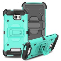 Wholesale galaxy s6 holster for sale – best Heavy Duty Armor Hard Case For Samsung Galaxy S6 J7 J3 Phone Case Belt Clip Holster Kickstand TPU PC Shockproof