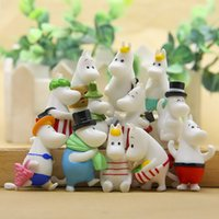 Wholesale family home decor for sale - Group buy Resin pc Hippo Moomin Family Miniature Fairy Garden Home Houses Decoration Mini Craft Micro Landscaping Decor Diy Accessories