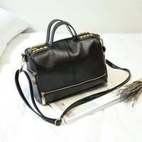 messenger bags großhandel-Neue Handtasche Schulter Messenger Bag und Handtasche Einfache Boston Mode Allgleiches Große Multi Funktion Square Querschnitt