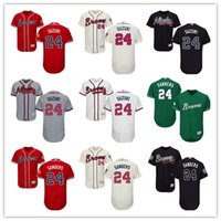Wholesale Brown Person - custom Atlanta Braves #24 Deion Sanders 2018 men#WOMEN#YOUTH#Men's Baseball Jersey Majestic Stitched Personal name Person number