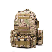 Wholesale military water backpack resale online - Outdoor Military Tactical Backpack Hiking Camping Water Resistant Rucksack New High Capacity Practical Travelling Bags High Quality df Ww