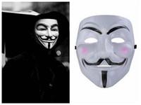 film için v toptan satış-Toptan V Vendetta Maskesi Cadılar Bayramı Korku Film Tema Için Maske V Vendetta V Yüz Masquerede Custume Maske Için Ucuz Ücretsiz Kargo