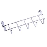 haken für hängende kleidung groihandel-5 Hooks Bathroom Door Hanging Rack Kitchen Hanging Organizer Door Clothes Hanger Hooks 10kg Bearing Over Door Rack Towel Holder 2pcs set
