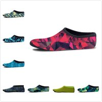 Wholesale quick dry medium - Non-slip Seaside Beach Shoes Swimming Quick Dry Socks Snorkeling Outdoor Sports Diving Socks Floral 3D Print Flippers Surfing Boots 17colors