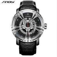 Wholesale sinobi watches men - SINOBI Men Watch S Shock Military Watch Men Leather Straps Racing Wheel Sports Quartz Watches Top Brand Luxury relogio masculino