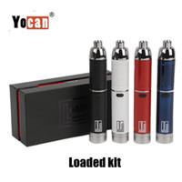 vape wachskopfspulen großhandel-Authentische Yocan Loaded Starter Kit 1400mAh Batterie Wachs Konzentrat Verdampfer Vape Pen Für Dual Quad Quarz Spulenkopf 100% Original