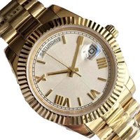 Wholesale watch bracelet president resale online - Wristwatches With Limited Gold K New Date Solid Bracelet Sapphire mm Man Daydate President Wristwatch Sport Mens Watches