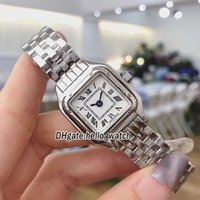 Wholesale japan gold bracelet - Brand New Panthere WSPN0006 White Dial Japan Quartz Womens Watch Silver Case Stainless Steel Bracelet Sapphire Fashion Glass Lady Watches