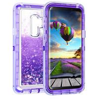 capa de bling para nota de galáxia venda por atacado-Para Samsung Nota 9 Líquido Quicksand Case Telefone Glitter Bling Capa para Samsung Galaxy Note 9 S9 S9plus