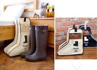 Wholesale Trunks Transparent - Cloth. Shoes bag. Dustproof soil. not waterproof. Two sizes. 47*29*24cm. 29*28*24cm. Bag Organizer. Transparent. A boot cover. boots storage