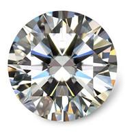 ingrosso taglio rotondo diamanti-0.1Ct ~ 8.0Ct (3.0MM ~ 13.0MM) D / F Colore VVS Tondo brillante taglio laboratorio certificato diamante Moissanite con un diamante prova positivo certificato allentato